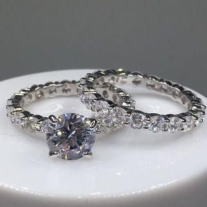Jewelry - 14k white gold ring set 5ct diamond engagement